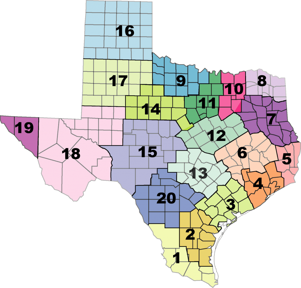 Texas Education Regions Map